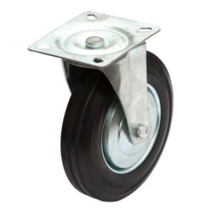 Swivel Black rubber wheel 125RNS2G