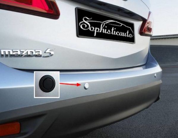 Two stickers to cover parking sensors