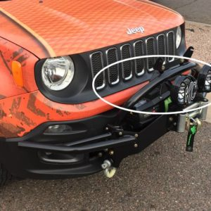 Barra frontale per luci supplementari Jeep Renegade