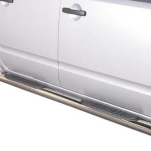 Nissan Navara – Grand Pedana (Side Bars with steps) Inox