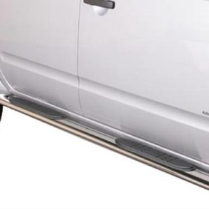 Nissan Navara – Oval Grand Pedana (Oval Side Bars with steps) Inox