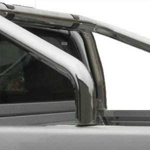 Nissan Navara – Roll Bar on Tonneau Inox (2 pipes version)