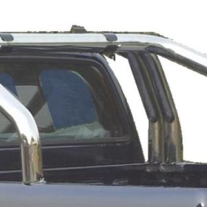 Nissan Navara – Roll Bar on Tonneau Inox (3 pipes version)