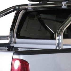 Nissan Navara – Roll Bar Mark on Tonneau Inox (2 pipes version)