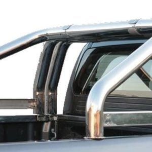 Nissan Navara – Roll Bar Mark on Tonneau Inox (3 pipes version)